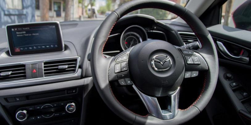 The Interior Of A Mazda3 Astina 2015
