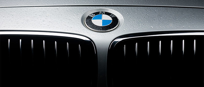bmw car front close up